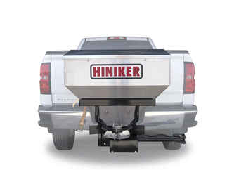 "Special Sale Price on NEW Hiniker 10 cu ft Stainless Steel Tailgate Salt Spreader for 2"" receiver. Payment must be cash or check."