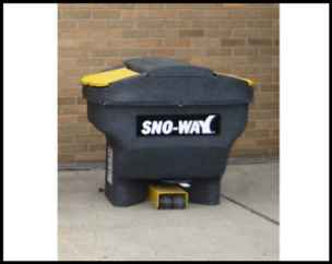 Last Chance! Sno-Way Spreader 4 cu ft (267# approx) Tailgate/Receiver hitch style with On/Off Controller - NEW OLD STOCK SPECIAL!   Special cash or check price (3% more for credit cards).