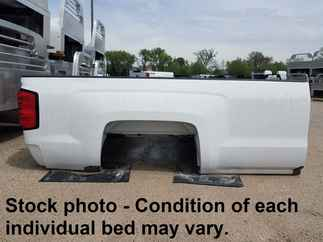 USED Truck Bed only 2015 Chevy 2500 SRW LB White