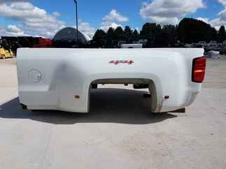 USED Truck Bed only 2017 Chevy 3500 DRW LB White