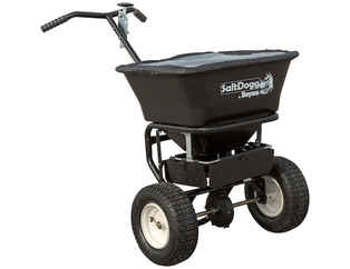 Special Sale Price on NEW SaltDogg (Buyers) Walk Behind, 1.5 cu ft Broadcast Spreader with Black Powder-Coated Frame (bagged salt).