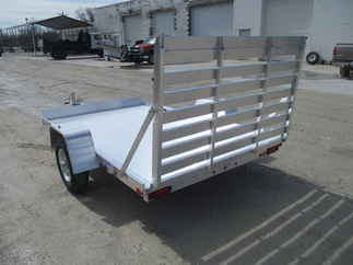 2020 Aluma 72x10  Aluminum Single Axle Utility 7210