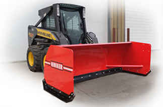 New Hiniker 3610 Model, Pusher Box with Rubber Cutting Edge Steel Pusher, Skid Steer