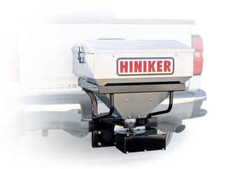 "Special Sale Price on NEW Hiniker 6 cu ft Stainless Steel Tailgate Salt Spreader for 2"" Receiver. Payment must be cash or check."